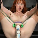 Kendra James at Ken Marcus tortured with a Hitachi Magic Wand Vibrator